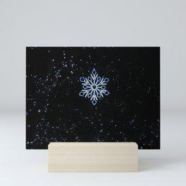 Ice Blue Light - Selective Coloring Mini Art Print