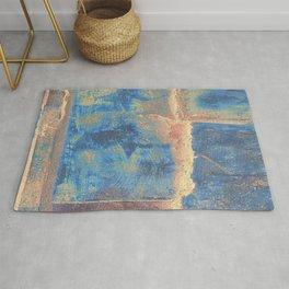 Rusted Metal Plates Abstract Rug