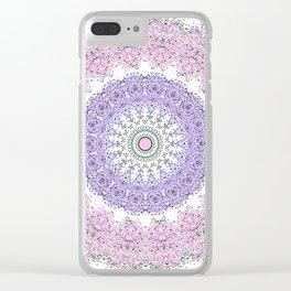 Mandala - Boho - Pastels - Purples Clear iPhone Case