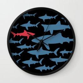 Swim with sharks Wall Clock
