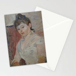 Young Girl in White Stationery Cards