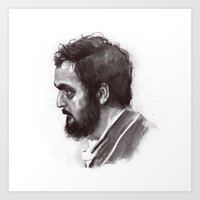 stanley kubrick Art Prints featuring Stanley Kubrick by Laurent Samani