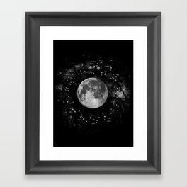 Astrology Constellation Map Art Print Framed Art Print