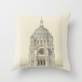 Church of St. Augustine Paris Throw Pillow