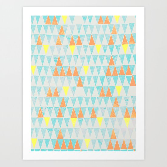 Triangle Patterns Art Print