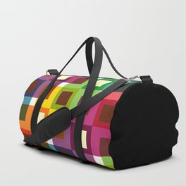 Geometric Pattern 11 (Colorful squares) Duffle Bag