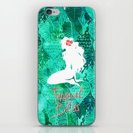 Silhouette in the Jungle - Tropical Bliss iPhone Skin