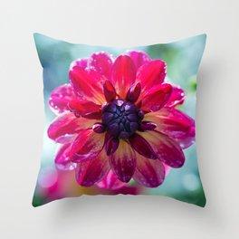 Dahlia In the Garden / 45 Throw Pillow