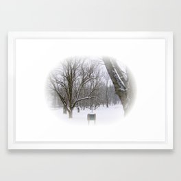 Winter Sleep Framed Art Print