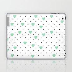 Pin Point Hearts Mint Laptop & iPad Skin