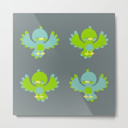 Cute little birds Metal Print