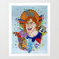 phish Art Prints featuring Trey's Mind by Nick Swann