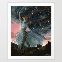 The Veil of Night Art Print