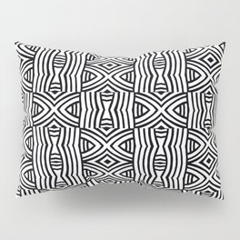 B&W #1, Interlacing pattern Pillow Sham