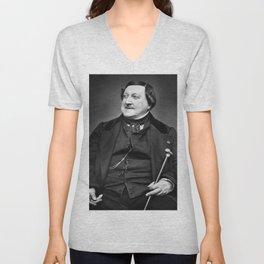 Etienne Carjat- portrait of Rossini Unisex V-Neck