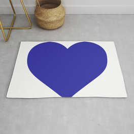 Heart (Navy Blue & White) Rug