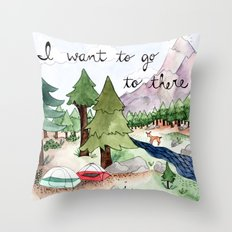 I Want To Go To There Throw Pillow