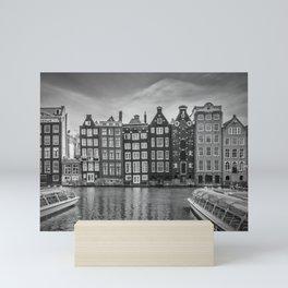 AMSTERDAM Damrak and dancing houses Mini Art Print