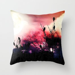 Moon Birds Throw Pillow