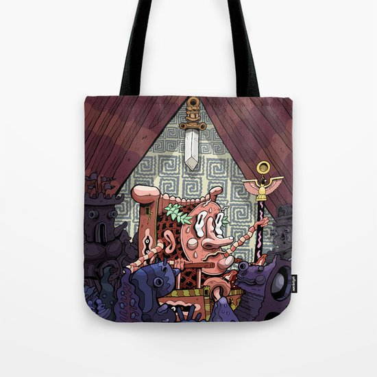 The Sword of Damocles Tote Bag