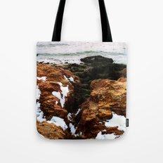 A Snowy Beach Tote Bag