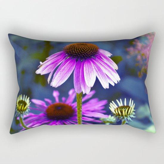 Purple Coneflowers  Rectangular Pillow
