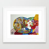 russian Framed Art Prints featuring Russian by oxana zaika