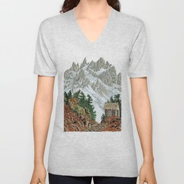 BEYOND MOUNT SHUKSAN AUTUMN COLOR VERSION Unisex V-Neck