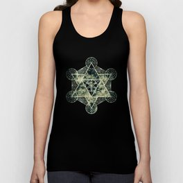 Sacred Geometry for your daily life -  Platonic Solids - IGNIS Unisex Tank Top