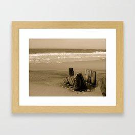 Logs Framed Art Print