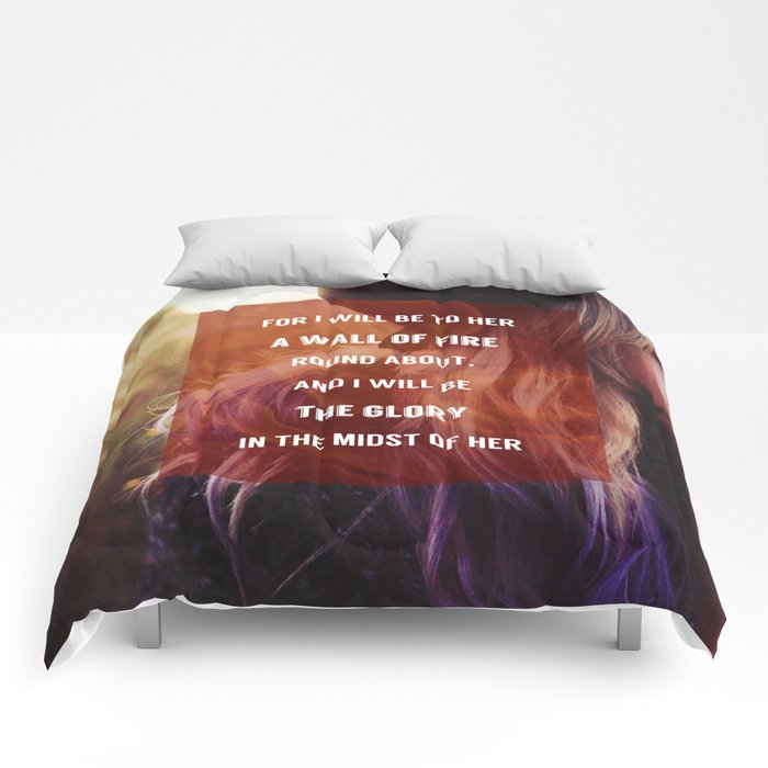 WALL OF FIRE Comforters