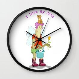 I Love my Cats Wall Clock