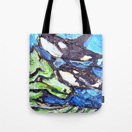 Killer Whales Sealife underwater Tote Bag