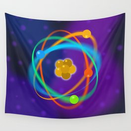 Atomic Structure Spots Wall Tapestry