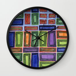 Melodic Rectangles Pattern Wall Clock