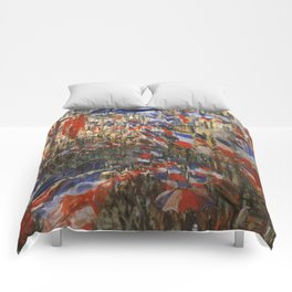 "Claude Monet ""The Rue Saint Denis, 30th of June 1878"" Comforters"