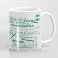 slytherin Mugs featuring Slytherin by husavendaczek