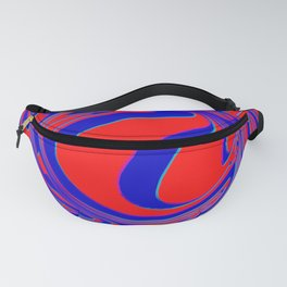 thrust, red and blue Fanny Pack