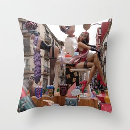 Fallas is an UNESCO world heritage Valencia, Spain Throw Pillow