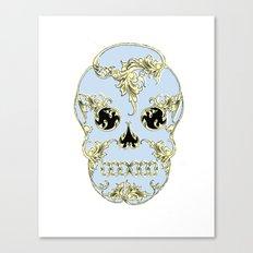 Rococo Skull Canvas Print
