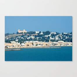 Breathtaking view of the city of Tunis from the sea Canvas Print
