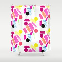 Modern, colorful art collage. Shower Curtain