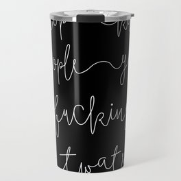 Stop Killing People - Black & White Travel Mug