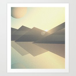 Unknown Planet 2 Art Print