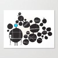 robot Canvas Prints featuring robot by alex eben meyer