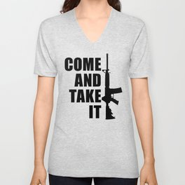 Come and Take it with AR-15 Unisex V-Neck