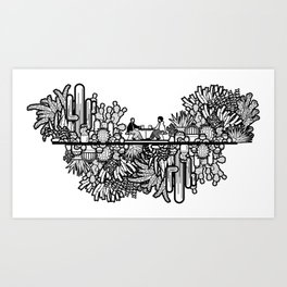 Chai and Cacti Art Print