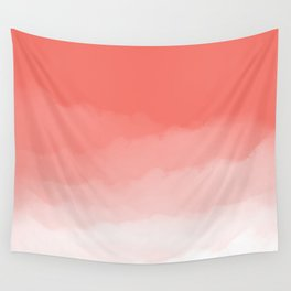 Living Coral Watercolor Ombre (Pantone Living Coral) Wall Tapestry