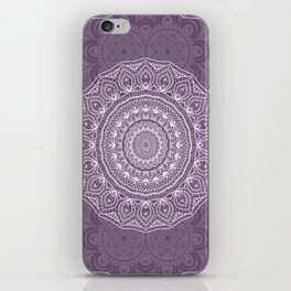 White Lace on Lavender iPhone Skin
