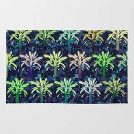 Inverted Tropical Plants Rug